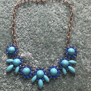 J.Crew Factory Blue Gemstone Necklace